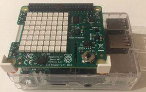 Sense Hat mounted on a Raspberry Pi