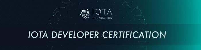 IOTA Developer Certification Banner